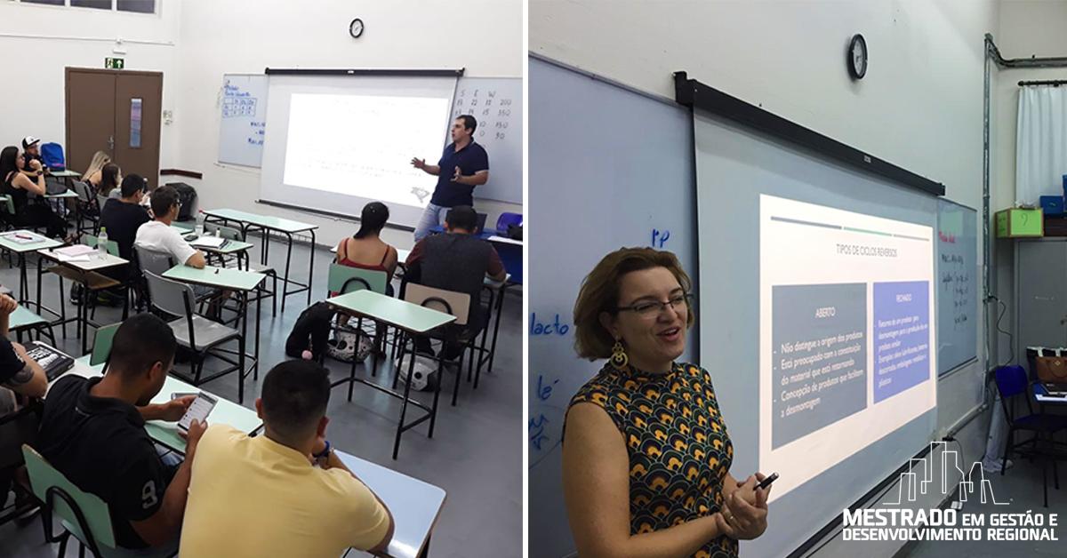 Alunos do mestrado em Gestão e Desenvolvimento Regional ministram palestra no curso de Comércio Exterior