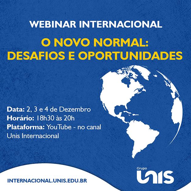 Grupo Unis realiza webinar internacional sobre desafios e oportunidades do novo normal