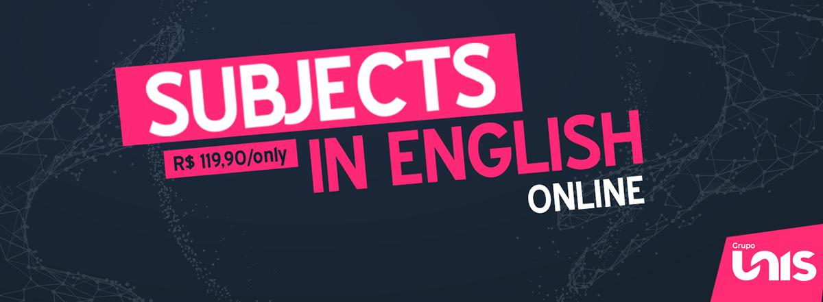 Unis oferece cursos online em diferentes áreas com conteúdos totalmente em inglês