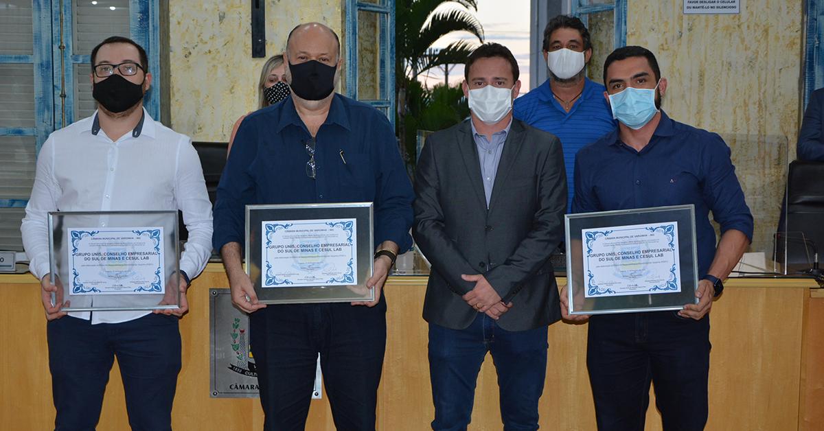 Unis, CESUL e Cesul Lab recebem Moção de Aplauso na Câmara de Varginha