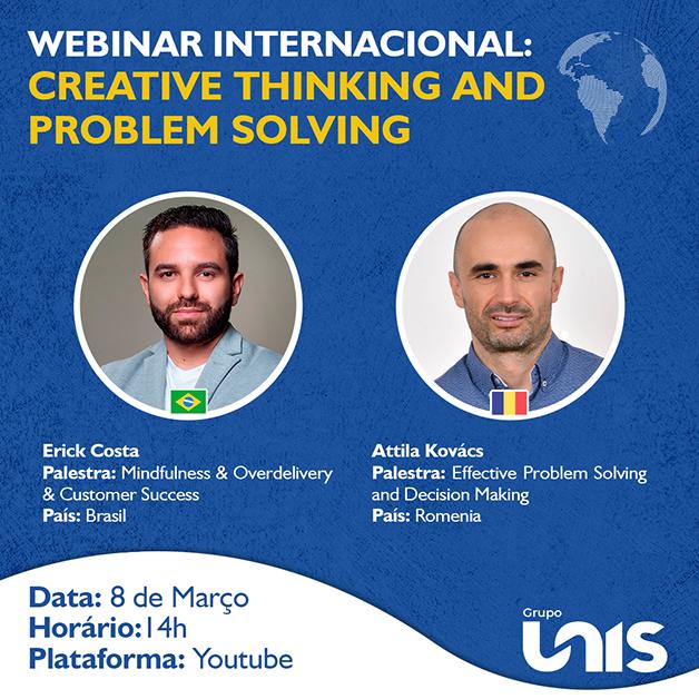 Webinar internacional reúne palestrantes do Brasil e da Romênia